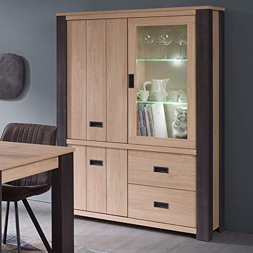 Vasillo luminoso 120 cm contemporáneo color madera