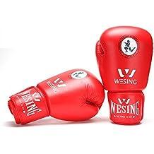 Karate Artes Marciales Mixtas completo casco protector máscara facial por wesing, color rojo, tamaño large