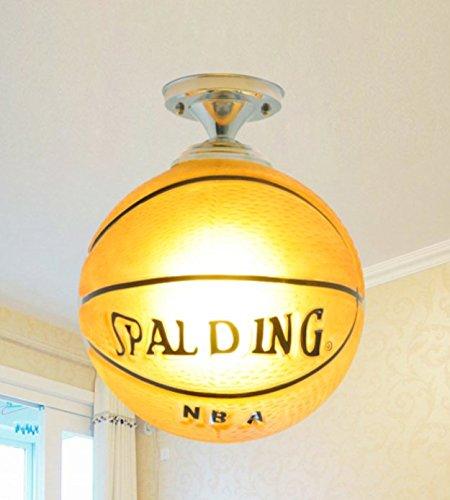 Lampada led ragazza ragazzo basket lampada da soffitto football lampada da soffitto lampadario lampada cartoon bambini camera da letto della lampada lamp, giallo