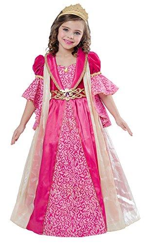 Kostüme Mädchen Renaissance (Corolle™ Renaissance Prinzessin Kostüm für Mädchen - Pink - 5 bis 7)