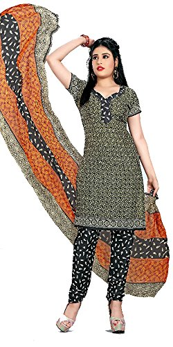 SD Fabrics Women's Cotton Hand Printed Salwar Kameez Dress Material (Multi-Color)
