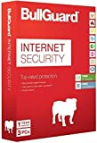BullGuard Internet Security 2015, 3 Users, 1 Year with 5GB of Online Storage Retail (PC) [CD-ROM] Windows 8 / Windows 7 / Windows Vista / Windows XP