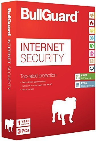 BullGuard Internetsecurity 2015, 3 User, 1 Jahr mit 5GB Online-Speicher Einzelhandel (PC) [CD - ROM] Windows 8 / Windows 7 / Windows Vista / Windows XP (Speicher Aqua)