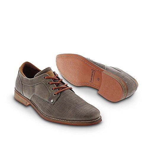 BULLBOXER , Chaussures de ville à lacets pour homme Gris
