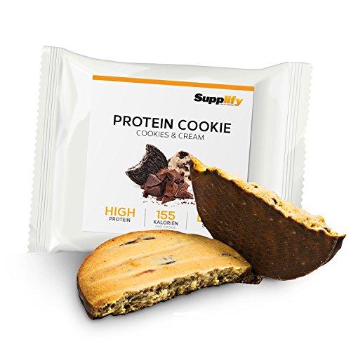 Protein Cookies nur 155 kcal Cookies and Cream wie Proteinriegel mit Whey Eiweiß 6x 40g Riegel