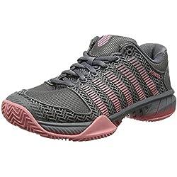 K-Swiss Performance Hypercourt Express Hb, Zapatillas de Tenis Mujer, Multicolor (Steel Grey/Calypso Coral/Flamingo Pink), 39 EU