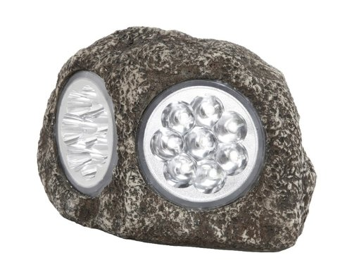 Globo IP44 LED Kunststoff dunkelgrau Solar Outdoor Rock Lampe