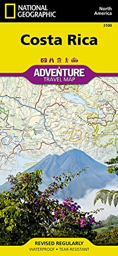Costa Rica: Travel Maps International Adventure Map: NG.AM3100