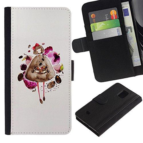 For Samsung Galaxy S5 Mini / Galaxy S5 Mini Duos / SM-G800 !!!NOT S5 REGULAR! ,S-type® Fashion Dress Pretty Lady Girl - Disegno di cuoio di stile del raccoglitore della Case di telefono della pelle custodia protettiva