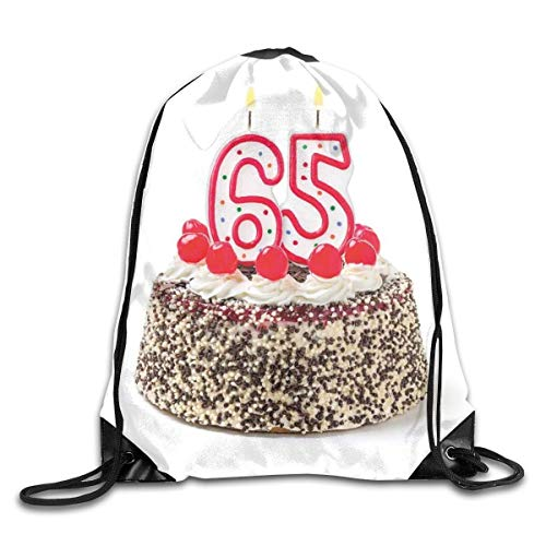 fdghjdyjdty Bundle Backpack 65th Birthday Gifts Travel Large Capacity Shoulder Drawstring Bags