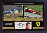 S&E DESING Michael Schumacher Print Foto SIGNED Autograph Motor Sport Poster Formel 1GP gerahmt MDF 0015