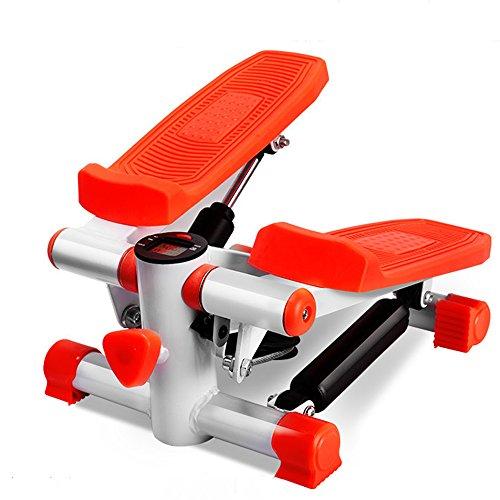 STEXH Stepper mit Power Ropes Stepper Schritt Maschine Home Mute Gewichtsverlust Maschine in situ Bergsteigen Pedal Maschine Multi-Funktion Geräte Mini Pedal Maschine Slim Legs Fitnessgeräte Up-Down-Stepper mit Multifunktions-Display (Multi Sport Stepper)