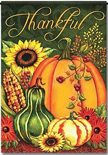 hankful Harvest Welcome Garden Flagge, Herbstkürbis-Herbst-Design, einseitig, für den Außenbereich, Polyester, 29,5 x 44,5 cm ()