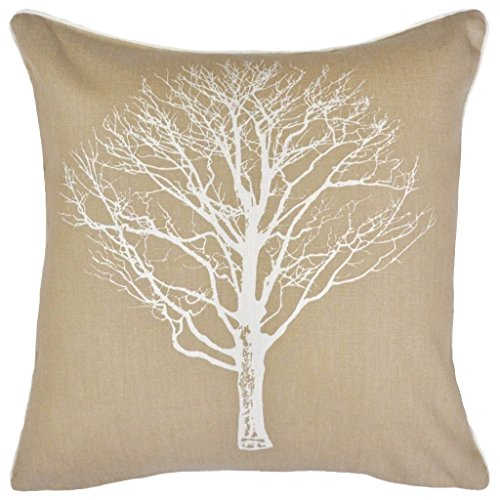 ShawsDirect Woodland Trees Cushion Cover 17 X 43cm Natural