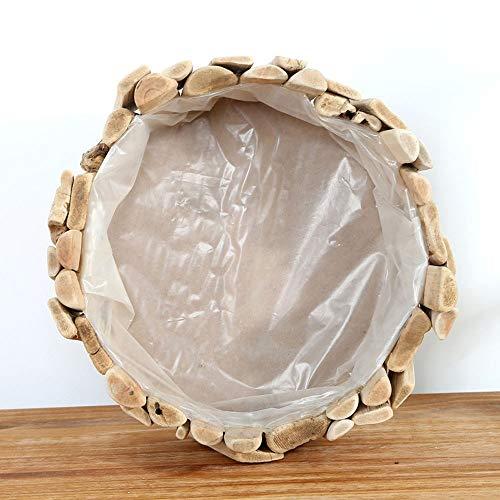 XHZJ Indoor Handcrafted Holzfass Pflanzer Runde Blumentöpfe Handgemachte Dekorative Wohnzimmer Garten Terrasse Dekor Für Saftigen Kaktus Kraut Orchidee Pflanzer Dekorative Ornamente
