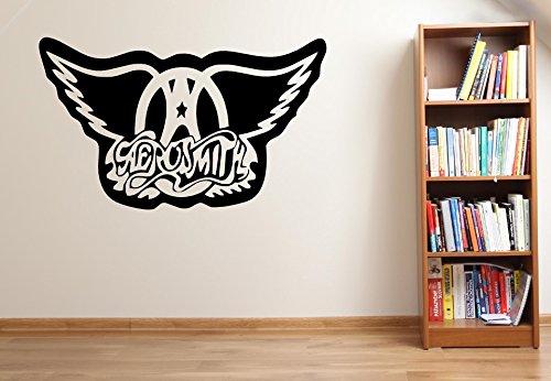 Aerosmith Logo Band Vinyl Wand Kunst Aufkleber-16Farben und 4Größen-fms43, 1 - Small 45 x 30 cm (Aero-smith Vinyl)