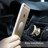 Support magnétique de voiture pour téléphones - Universel en aluminium de voiture téléphone support de fixation pour grille d'aération avec deux plaques pour téléphone portable comme l'iPhone 7/7 Plus/6S/6S Plus et smartphones Android