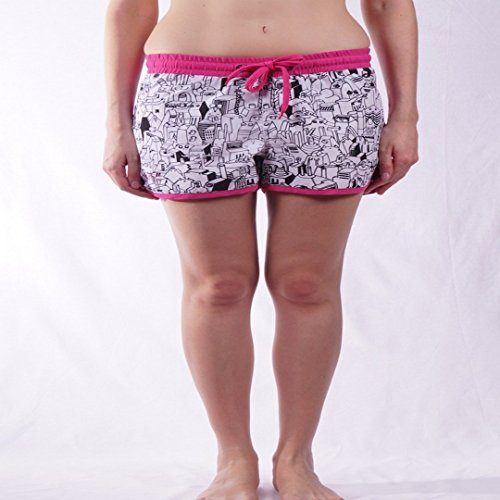 Damen Boardshorts Nikita Onice Surfshorts Women neon pink/white S (Womens Shorts Nikita)