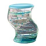 Ailiebhaus Liquid Timer Motion Bubbler Classic Sanduhr Decoration-Spielzeug-Geschenk (Blau-Grün)