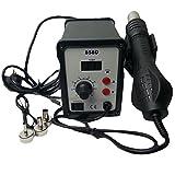 REFURBISHHOUSE Pistola de aire caliente 3 Boquillas de estacion SMD de retrabajo soldadura desoldar para Yihua 858D