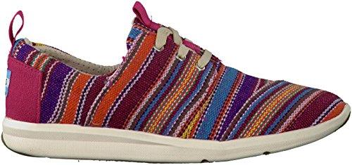 TOMS Womens Del Rey Sneaker Raspberry Tribal Woven 38
