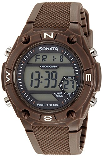 Sonata Digital Multi-Colour Dial Men's Watch-77033PP02