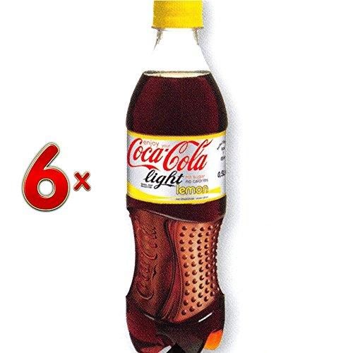 Coca Cola Light Lemon PET 4 x 6 x 500 ml Flasche (Cola-Light-Flasche mit Zitrone)