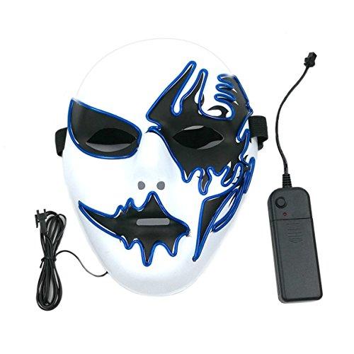 Detectoy Maske mit LED-Licht Kreative Dekoration für Party Halloween Street Dance Geburtstag Party Karneval Cosplay Pub
