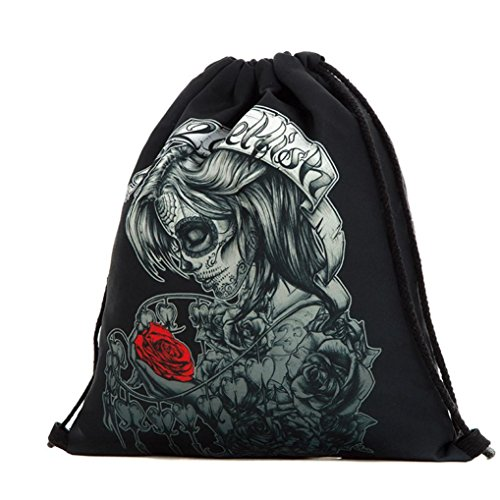 Longra Sacchetto di immagazzinaggio del sacchetto della porta del fascio del sacchetto del drawstring di Halloween C