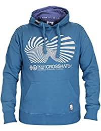 New Mens Crosshatch Brand Printed Pullover Hoody Sweatshirt Hooded Top Collection