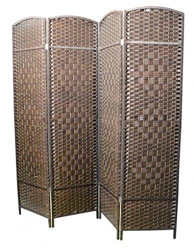 Biombo Separador de Ambientes, Grande de 180x180. Bambú Natural Color
