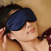 Schlafmaske Premiumqualität 100% reine Seide hypoallergene waschbar Silk Luxus Augenmaske Dunkelblau preisvergleich bei billige-tabletten.eu