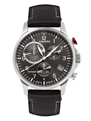 Junkers Orologio Analogico-Digitale cronometro Uomo con Cinturino in Pelle 68922