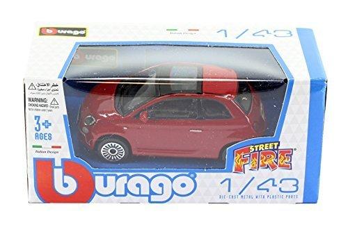 new-burago-1-43-diecast-model-car-burago-street-fire-range-fiat-500-3dr-in-red