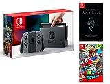 Nintendo Switch Konsole 32Gb Grau + The Elder Scrolls: Skyrim + Super Mario Odyssey
