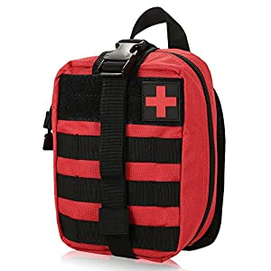 51F9iCrF%2B3L. SS300  - Lixada First Aid Kit Bag, Tactical MOLLE First Aid Kit Medical Pouch -Emergency Survival Responder Bag for Home,Car,Hunting,Workplace,Camping,Travel