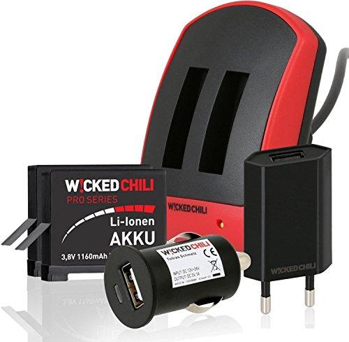 Wicked Chili 5529a - Kit de cargador y baterías para GoPro Hero...