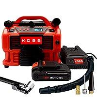 KOBB KB500 12Volt/220Volt/18Volt 2Ah Li-ion Şarjlı Dijital Basınç Göstergeli Lastik & Yatak Şişirme Pompası