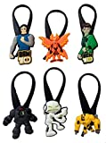 """Ben 10"" Silicone Snap Lock Zipper Pulls 6 Pcs Set #1"