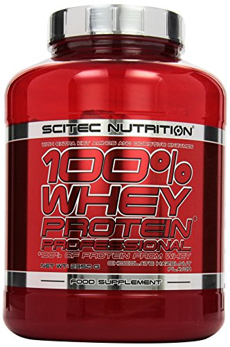 Scitec Nutrition Protein 100{361428d59280d02b745b398f182320be1fa49072f6f23a38608f0f3d24a71a74} Whey Protein Professional, Schokolade Haselnuss, 2350g
