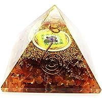 Crocon Karneol Edelstein Energetische Pyramide mit Kristall Punkt Blume des Lebens Symbol Energie Generator für... preisvergleich bei billige-tabletten.eu