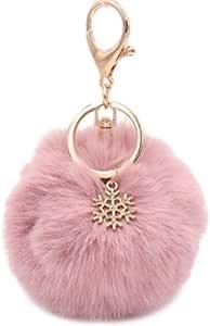 8CM Bleu Shuda 1 Pcs Porte-cl/és Keychain Creative Hairball Style Porte Clef P/ère Cadeau Porte Cl/é Pompon pour Hommes Femme