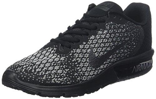 Nike Herren Air Max Sequent 2 Laufschuhe, Grau (Noir/Grisfoncé/Grisloup/Hématitemétallique), 44.5 EU