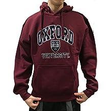 Sudadera con capucha oficial de la universidad de Oxford - Borgoña - ropa oficial de la universidad famosa de Oxford