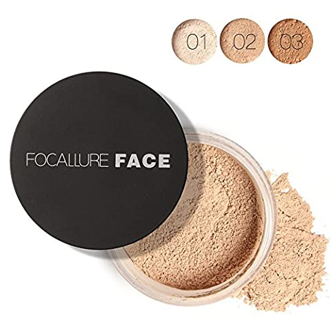 Huayang| Smooth Skin Loose Face Powder, Translucent, Long Lasting Resistant Sweat Oil-control Professional Loose Finishing Powder for Facial Makeup Cosmetic - 7g (color