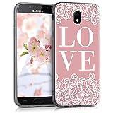 kwmobile Samsung Galaxy J5 (2017) DUOS Hülle - Handyhülle für Samsung Galaxy J5 (2017) DUOS - Handy Case in Weiß Rosa