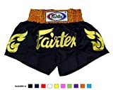 Pantalones cortos Fairtex, para Muay Thai, de satén--, color BS0652, tamaño Medium