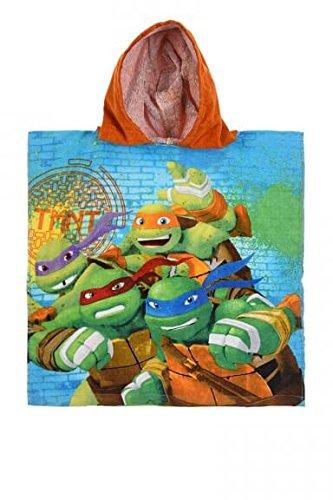 Teenage Mutant Ninja Turtles Velour Kapuzen Poncho Strandtuch Badetuch