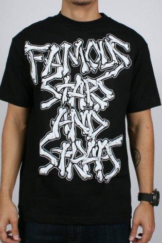 Famous Stars and Straps - Dem Bones Herren Kurzarm T-Shirt in Schwarz / Weiß Schwarz