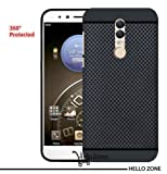 Hello Zone Exclusive Dotted Matte Finish Soft Back Case Cover For Micromax Canvas Dual 5 -Black